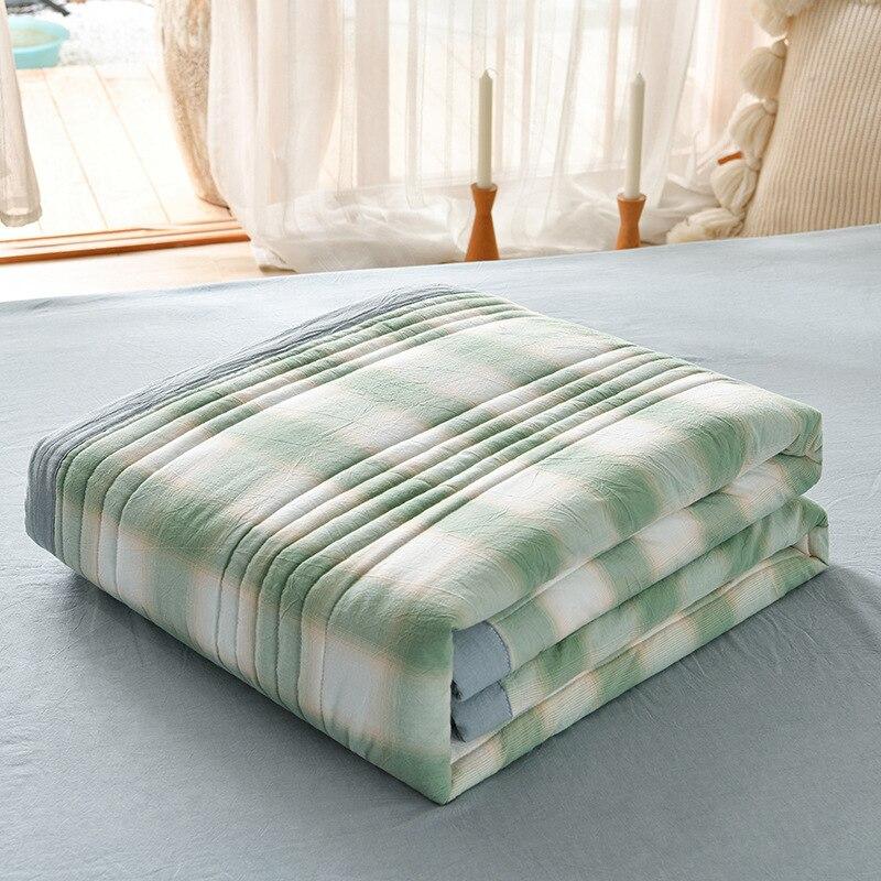 شبكة لحاف صيفي بطانية تكييف الهواء لينة المعزي تنفس الفتيان الفتيات المنزل رقيقة غطاء السرير المنسوجات المنزلية