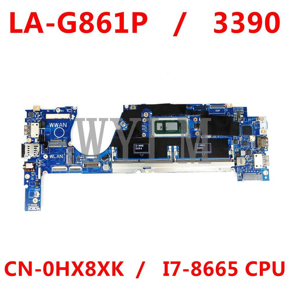لديل خط العرض 3390 LA-G861P اللوحة المحمول CN-0HX8XK 0HX8XK HX8XK I7-8665U 100% العمل