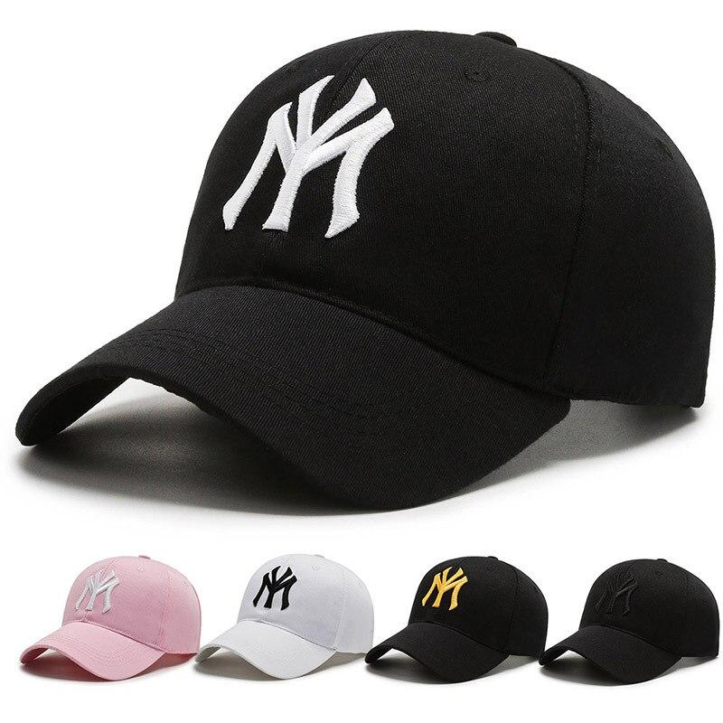 Кепка New York Ny с вышивкой для женщин, регулируемая бейсболка в стиле хип-хоп для мужчин и женщин