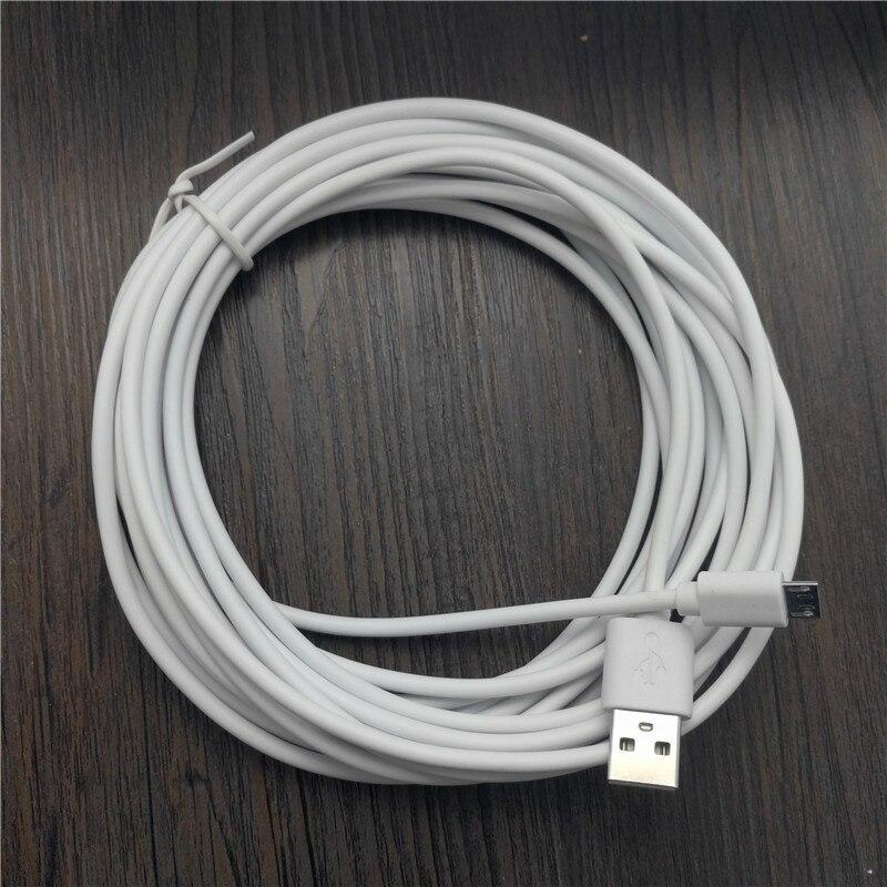 Cable de carga microusb para teléfono inteligente android, cargador de 2m/3m/5m/6m/7m/8m/10m, nuevo