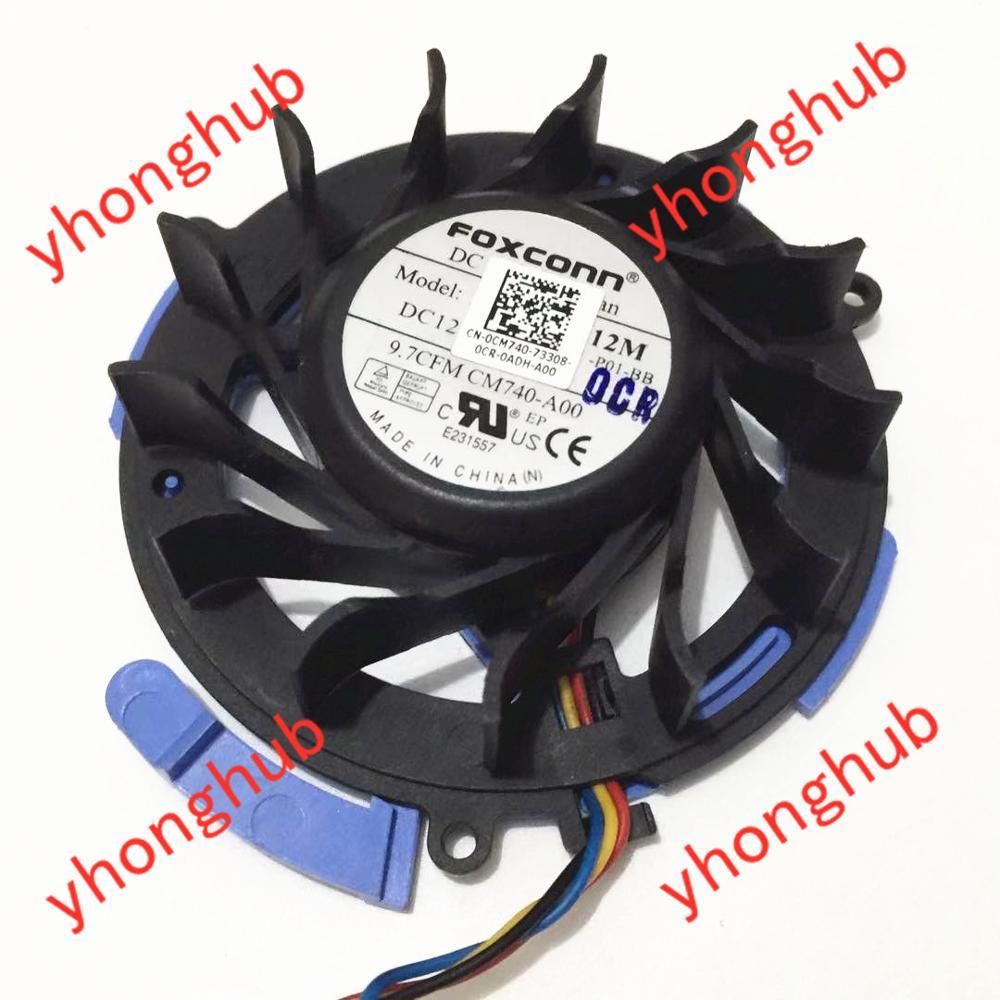 Forcecon pvb060e12m M740-A00 dc 12v 0.23a ventilador de refrigeração do servidor de 4 fios
