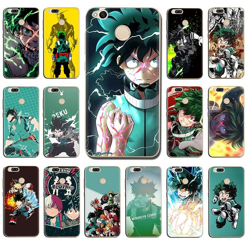 Anime mi héroe Academia caja del teléfono duro para Xiaomi 5 5S 6 8 se A1 A2 Lite mezclar 2S F1 9 se Max 3 9T A3 Pro CC9e