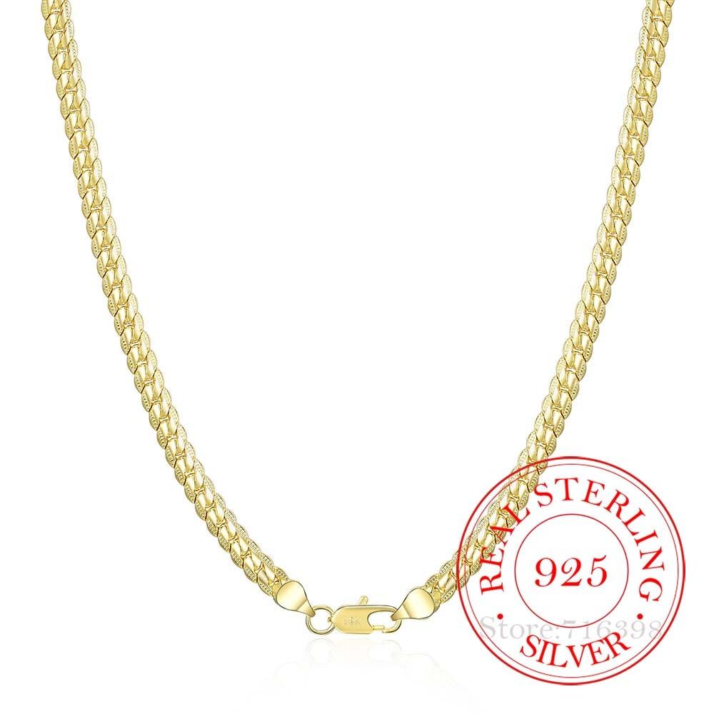2020 Plata de Ley 925 con collar de oro mujer, dorados de...