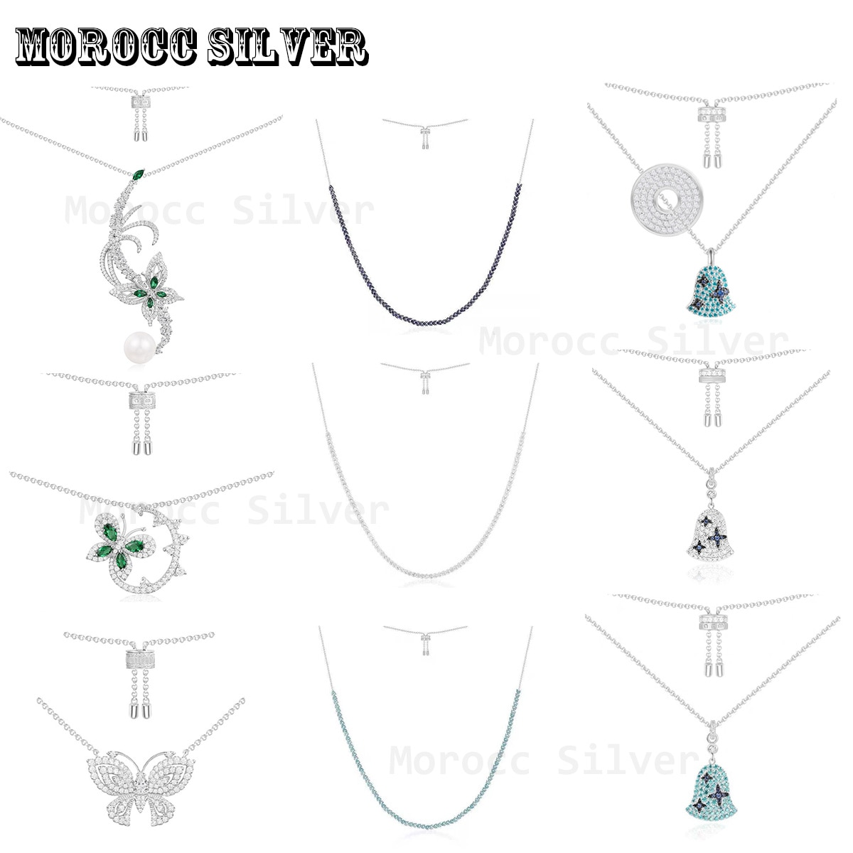 S925 Sterling Silver Jewelry 1:1 Copy, Light Luxury Retro Crystal Inlaid Butterfly Necklace Design Women's Sweater Necklace