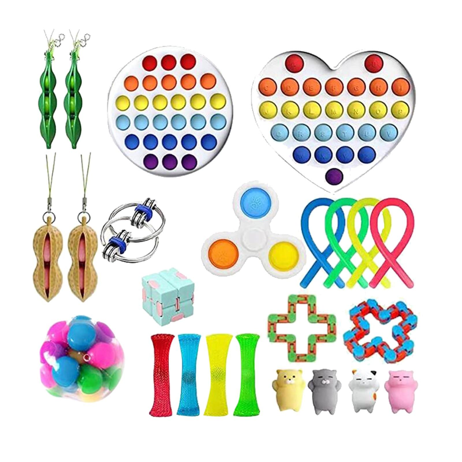 23pcs Sensory Toy Set Anti Stress Toy Sets Relief Stress Sensory Anxiety Stress Relief Toy Set Fidget Toys For Kids Adults