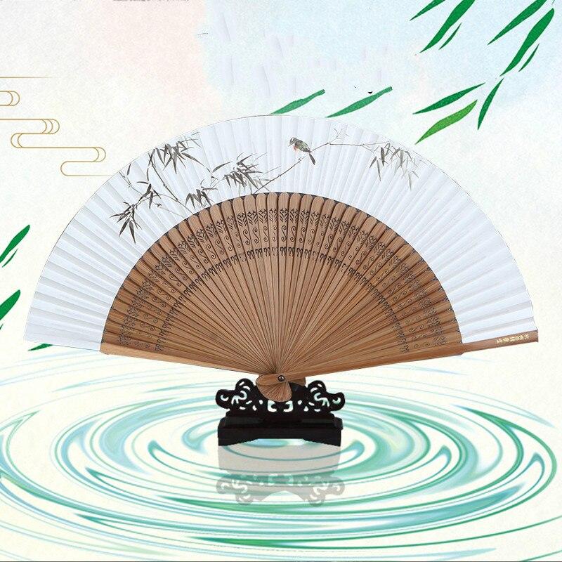Abanico de papel Xuan plegable clásico chino Para mujer, abanico de papel...