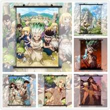 Dr taş Senku Tsukasa Anime manga duvar posteri kaydırma