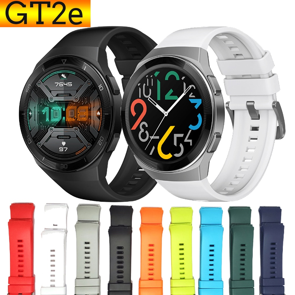 For GT2e Watch Band Silicone Strap for Huawei Watch GT2e Bands 22mm Sport Colorful Replacement Straps Smart Wearable Accessories