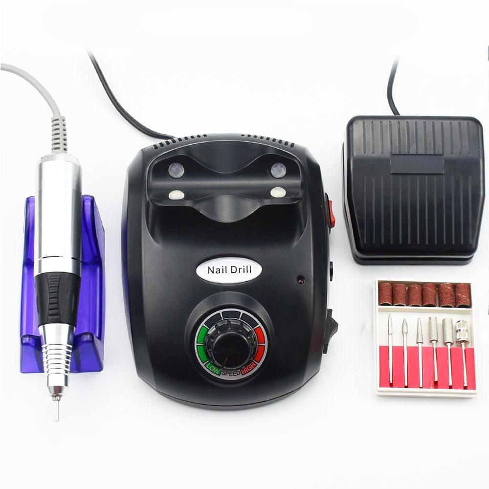 Jewhiteny Nagel Bohrer Maschine 35000RPM Maniküre Bohrer Ausrüstung Elektrische Nagel Datei Für Nail art Design Maniküre Maschine Set