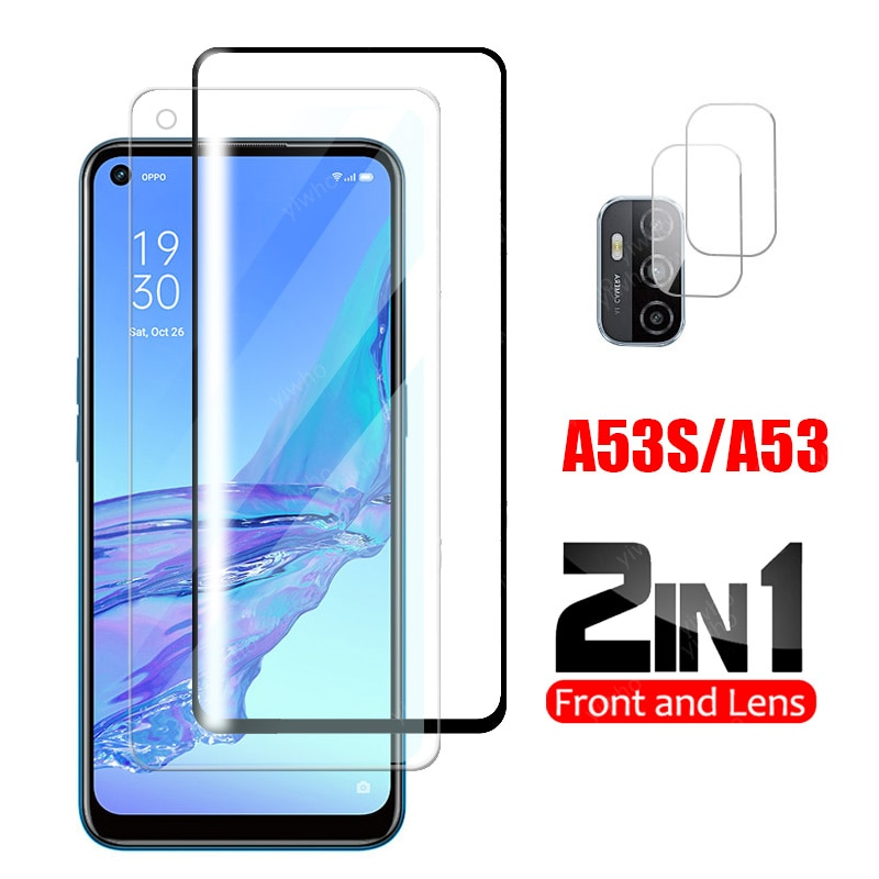 Protective Glass on For oppo a53s Glass Camera Protector On For oppo a 53 s 6.5
