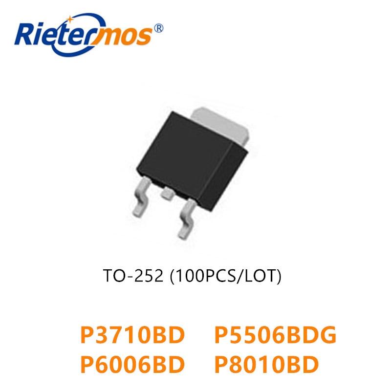 100PCS P3710BD P3710 P5506BDG P5506BD P6006BD P6006 P8010BD P8010 TO252 ALTA QUALIDADE
