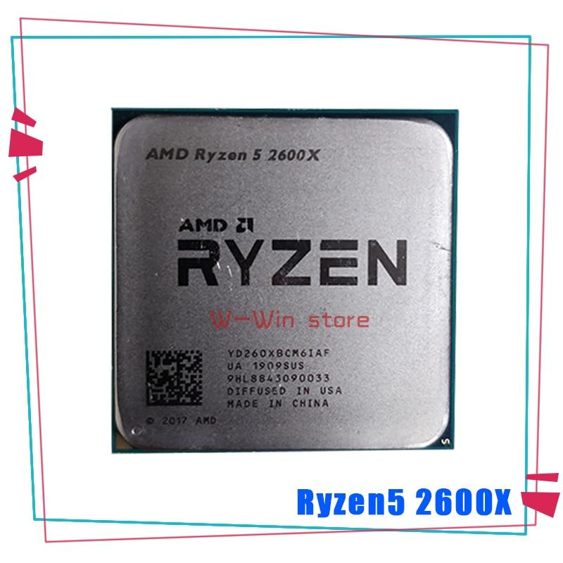 [해외] AMD-Ryzen 5 2600X R5 2600X 3.6 GHz 6 코어 12 스레드 CPU 프로세서 YD260XBCM6IAF 소켓 AM4, 라이젠 중고 씨피유 쿨러 미포함