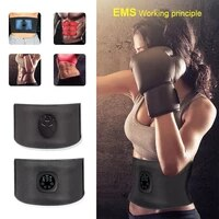 ems electric abdominal body slimming belt waist band smart abdomen muscle stimulator abs trainer fitness lose weight fat burn