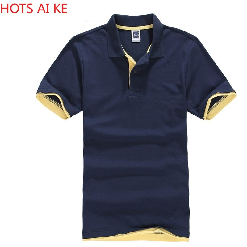 Summer Classic Polo Shirt Men Cotton Solid Short Sleeve Tee Breathable  Masculina Jerseys Golftennis