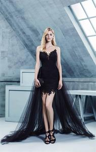 Formal Evening Dresses For Women Scoop Court Train Appliques Beading Tulle Custom-Made Formal Evening Dresses South Africa