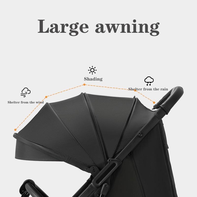 Baby stroller foldable travel can sit reclining stroller four-wheel stroller ultra-light portable travel stroller enlarge