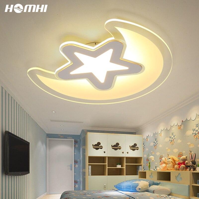 Homhi الطفل مصباح القمر ستار Led ضوء السقف الإضاءة لغرفة النوم Abajur Infantil Luzes دي تيتو انخفاض الشحن 24 واط المنزل HXD-062