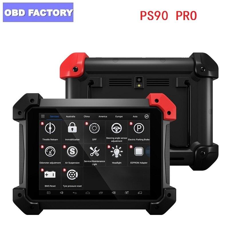 Herramienta de diagnóstico de alta resistencia PS90 PRO para programador de llave OBD2 de coche y camión y actualización de ajuste de odómetro en línea con Wifi/BT