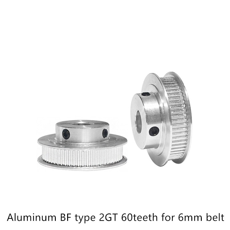 3d printer pulley timing GT2 60teeth bore 5mm 6.35mm 8mm 10mm 12mm 14mm fit for 2GT belt width 6mm