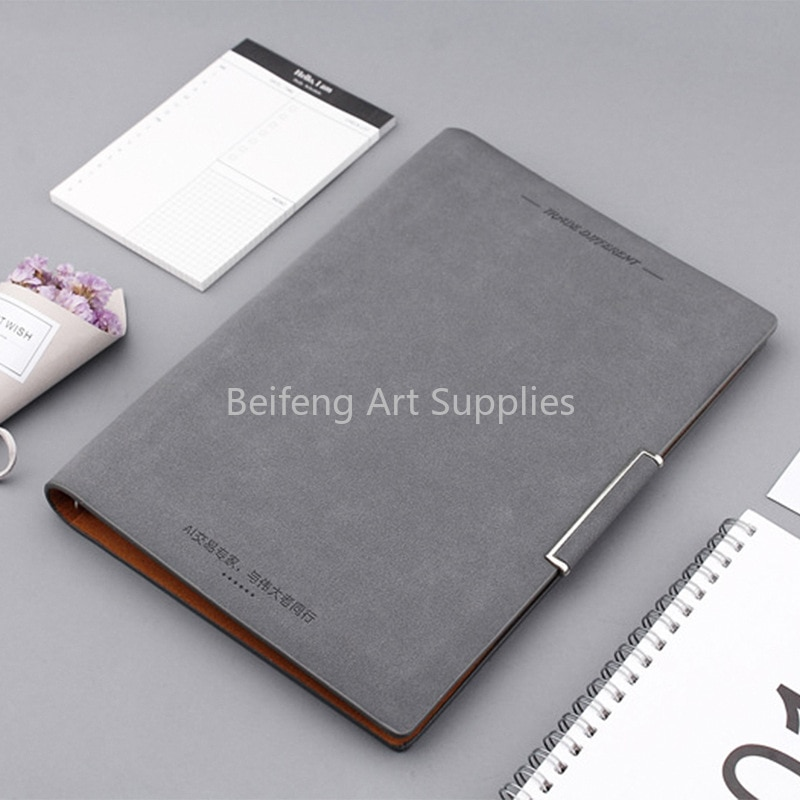 Creative A5 Business Loose-leaf Notebook Office Gift Faux Leather Notepad Set StationeryNotebooks Notepad Diary School Supplies