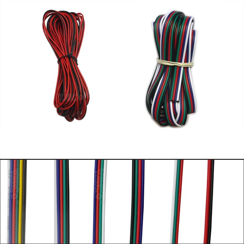 5 متر/10 متر 2pin 3pin 4pin 5Pin 6pin 22 AWG تمديد الأسلاك الكهربائية كابل Led موصل ل 5050 WS2812 RGBW RGB CCT LED ستيرب