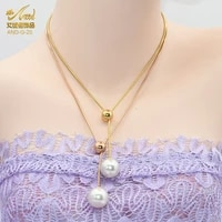 aniid pearl necklace for woman chain long pendant fashion choker link jewelry clavicle charm accessories girls birthday gift