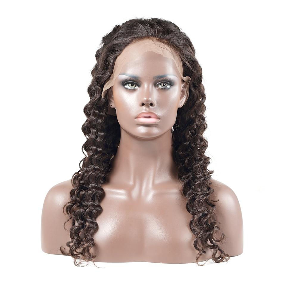 Luvin OneCut pelo onda profunda 20-34 pulgadas 250 densidad rizado 13x6 frente de encaje 100% cabello humano pelucas Remy Pelo Largo encaje peluca Frontal
