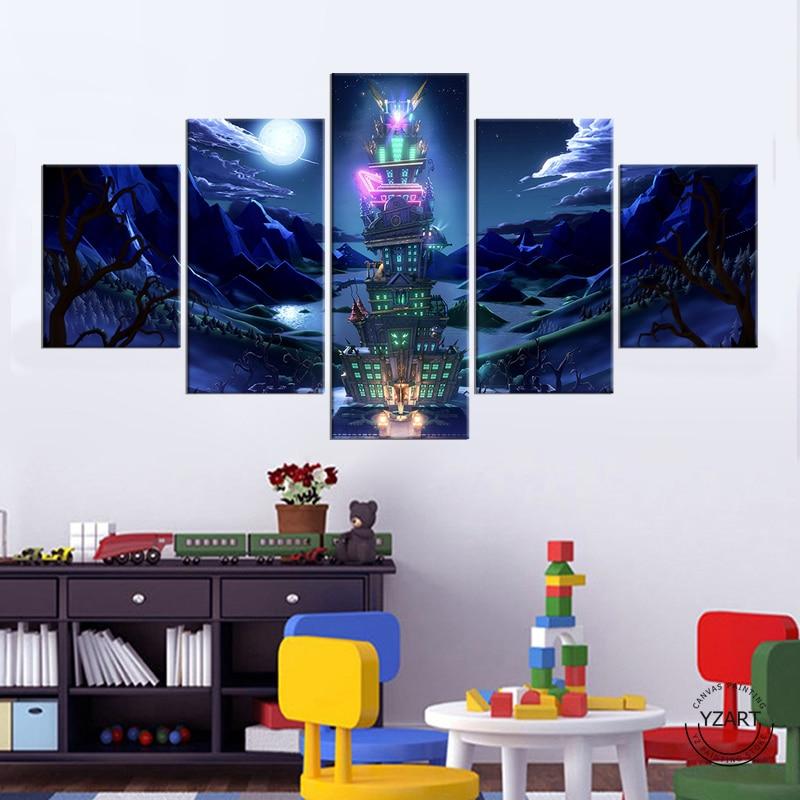 5 uds lona pinturas de Luigis mansión 3 póster del juego fotos...
