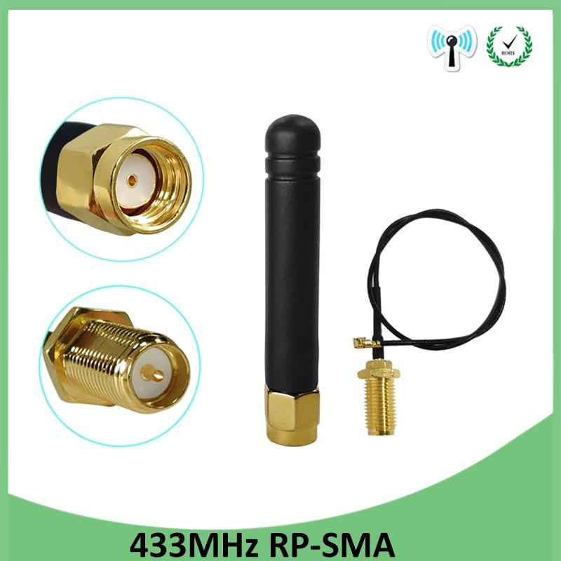 433MHz antena 2.5dbi conector de RP-SMA enchufe 433 mhz antena direccional resistente al agua para medidor de agua Lorawan Gasmeter