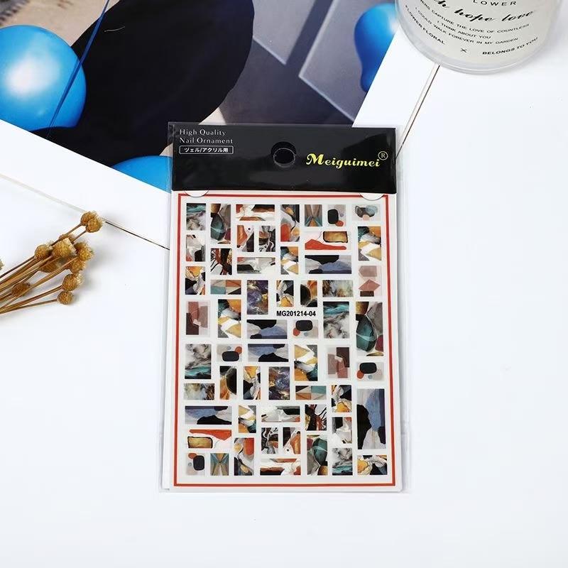 3D Nail Sticker Design DIY Tips Nail Art Ornament Packaging Self Adhesive Transfer Decal Slider