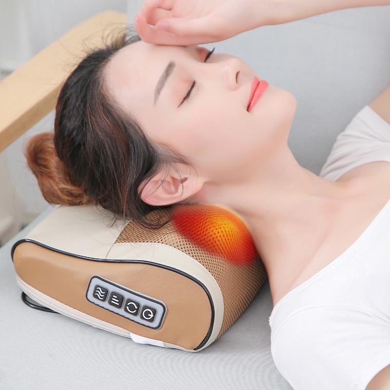 Shoulder Back Massage Electric Pillow Cervical Massager Neck Massager Vibration Electric Neck Shoulder Protector Relaxing Massag