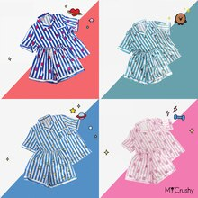 Pajamas Suit Cute Kawaii Sleepwear Women Men Clothes Bedroom Set Bangtan Boys RM Jin Suga JHope Jimi