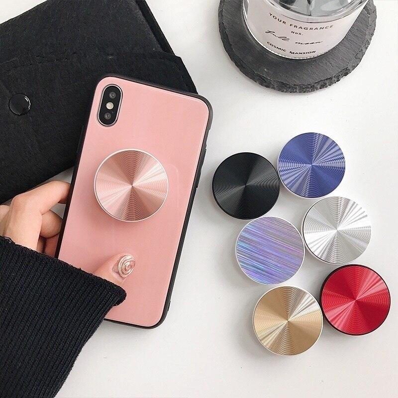 Soporte Universal para teléfono móvil con superficie de anillo de dedo de CD, soporte Flexible para iPhone 11 Pro Max