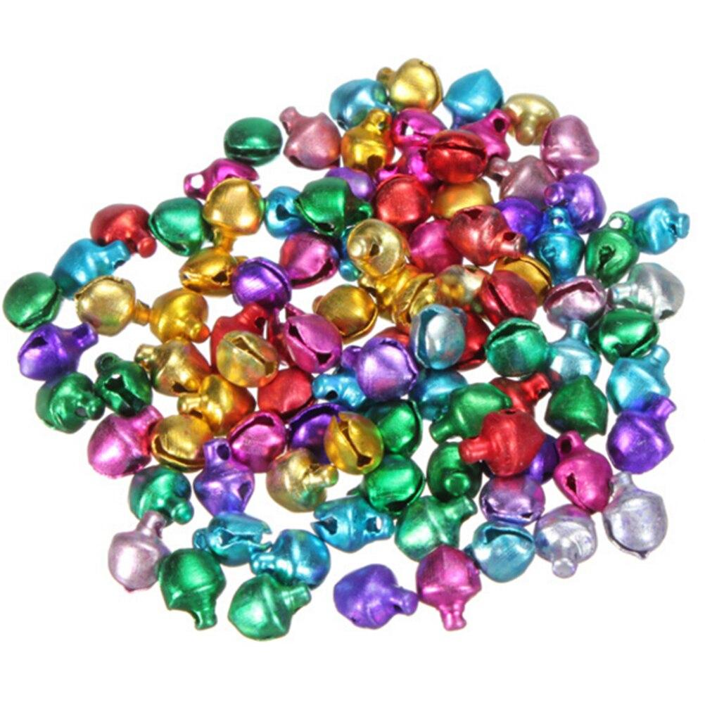 100 teile/los Lose Perlen Kleine Jingle Bells Weihnachten Dekoration Geschenk DIY Handwerk Weihnachten Home Dekorationen 6/8/10MM
