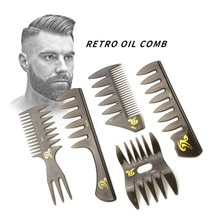 Brede Tanden Haarborstel Vork Kam Mannen Baard Kappers Borstel Kapper Styling Tools Professionele Salon Hair Styling Accessoire
