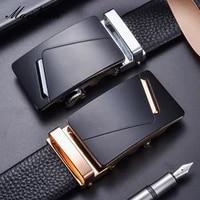 maikun luxury design mens genuine leather alloy automatic buckle belt four seasons fashion trend cowskin business belt for men