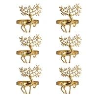 6pcs christmas deer design napkin rings alloy napkin holder party decoration