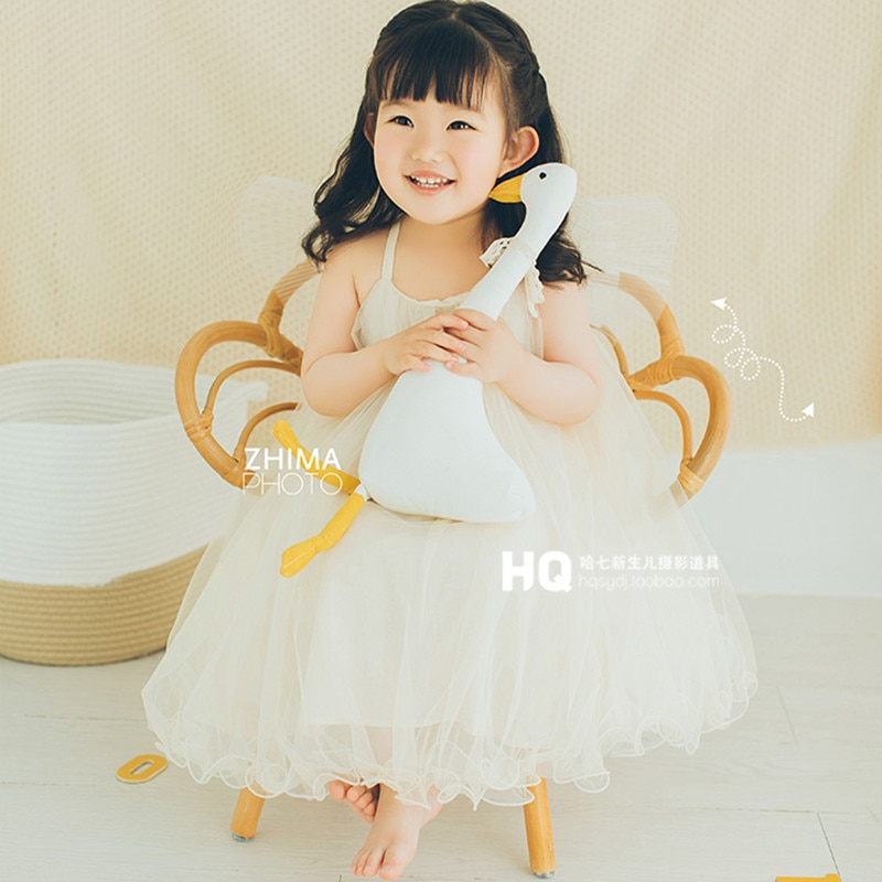 Baby Photography Furniture Accessories Handmade Woven Rattan Wicker Chair Kids Boy Girl Photo Shoot Background Fotografie Props