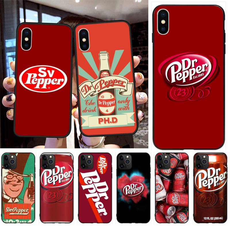 Dr Pepper de lujo diseño único de la cubierta del teléfono para iPhone 11 pro XS MAX 8 7 6 6S Plus X 5S SE 2020 XR caso