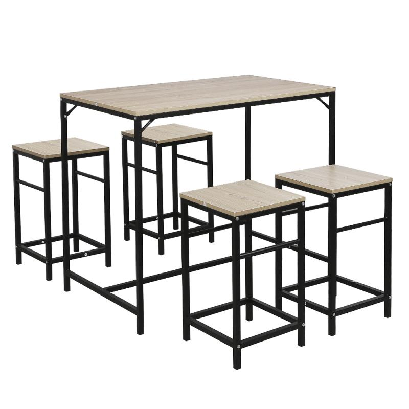 مجموعة من 4 كراسي الطعام 1 طقم طاولة عشاء أثاث المنزل حجرة طعام صغيرة دائم طاولة الطعام كرسي مجموعة غرفة الطعام HWC