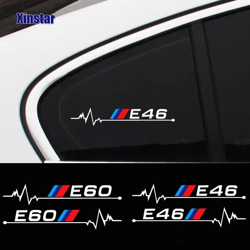 2 шт. наклейки на окна автомобиля для bmw E30 E34 E36 E39 E46 E60 E61E87 E90 E83 F10 F20 F21 F30 F35 E84