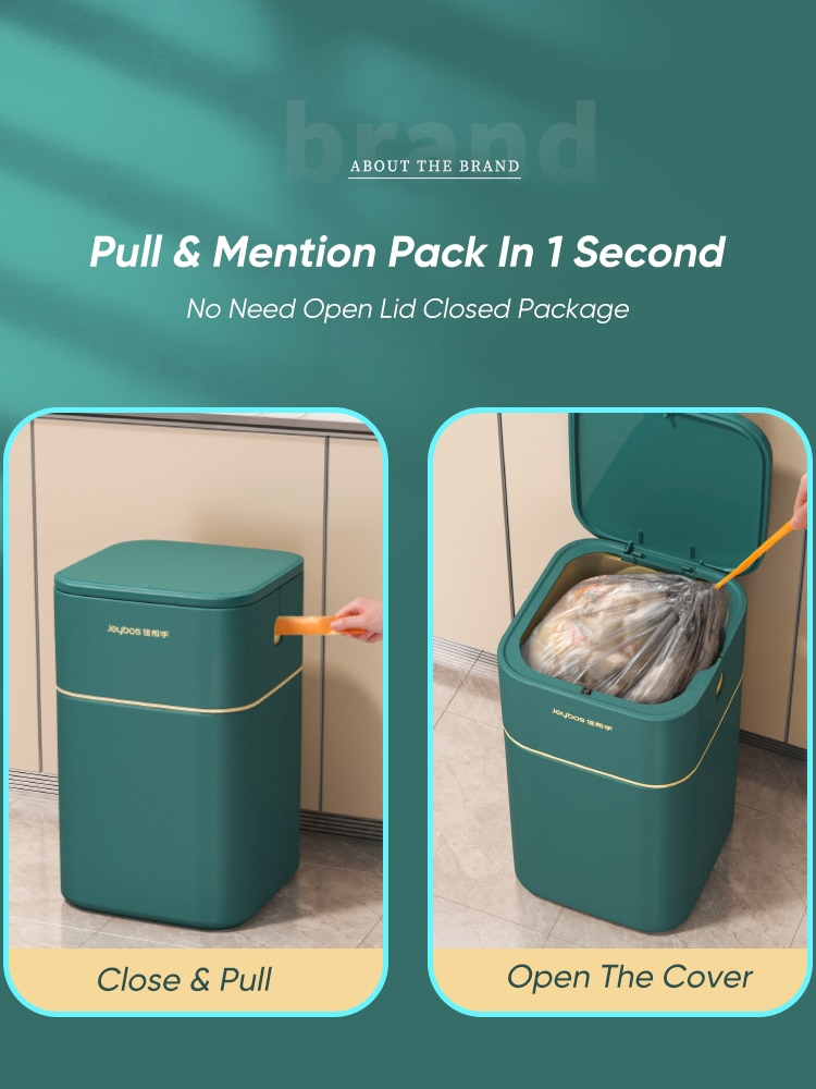 Joybos Trash Can Nordic Style Seal Press For Kitchen Bathroom Office Storage Bucket Dustbins Accessories With Lid Garbage B JX91 enlarge