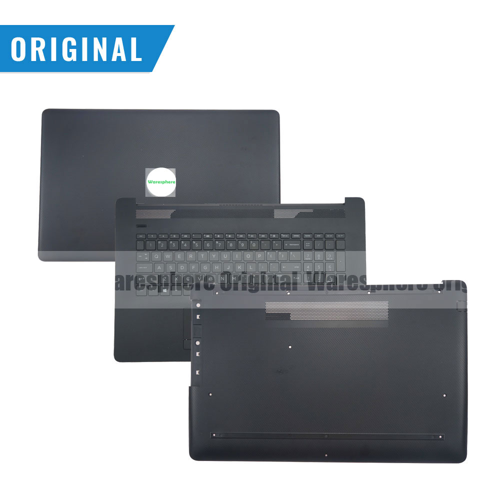 New and Original LCD Back Rear Lid Top Cover Upper Case Palmrest Bottom Base Cover For HP Pavilion 17-BY 17-CA  Black Grid Model new original bottom base cover for msi gv62 7rc 7rd 8rd bottom case 3076j4d23 black