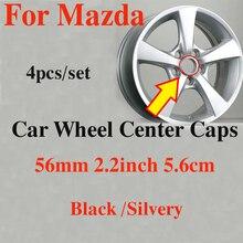 Étiquettes de enjoliveurs de roues   Jantes de voiture ABS originales de 56MM 2.2 pouces, couvercles de Center pour roues mazda CX 5 7 9 RX MPV MX roues Auto, 4 pièces