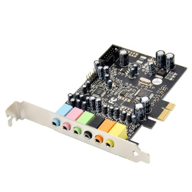 PCIe 7.1CH tarjeta de sonido estéreo sonido envolvente PCI-E integrado 7,1 canales o sistema CM8828