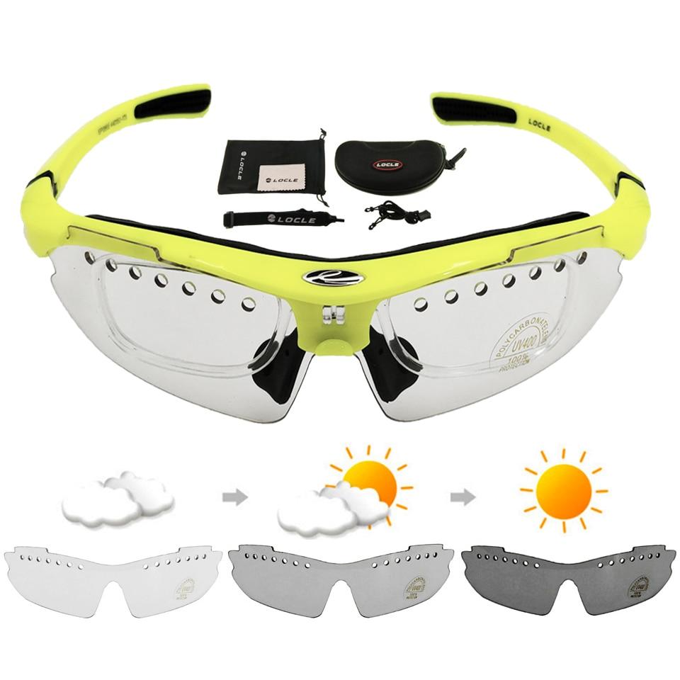 LOCLE-Gafas fotocromáticas para Ciclismo, lentes deportivas para bicicleta, UV400