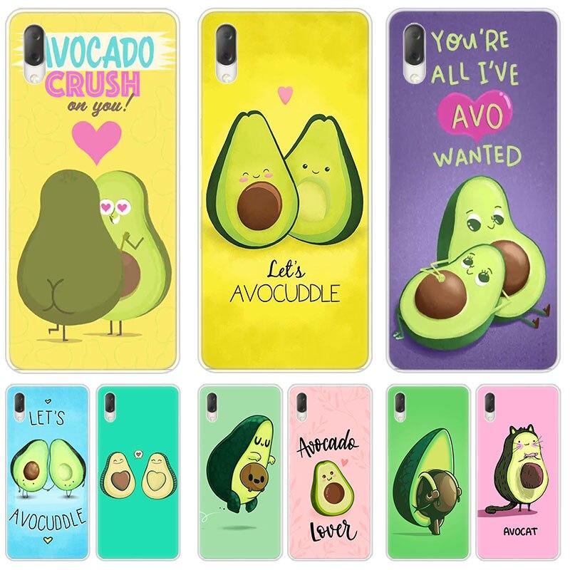 Hot Cute cartoon avocado Hard Case For Sony Xperia L1 L2 L3 X XA XA1 XA2 Ultra E5 XZ XZ1 XZ2 Compact XZ3 M4 Aqua Z3 Z5 Premium