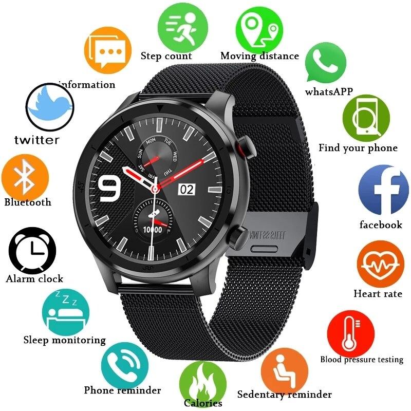 Tela de Toque Música para Xiaomi Gejian Chamada Bluetooth Relógio Inteligente Masculino Completa Esportes Fitness Assista Huawei Ios Telefone Smartver