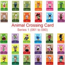 Carte de croix danimaux séries 1 (061 à 090)   Carte Amiibo, carte travail pour NS Game de nouveaux Horizons, flappy Cherry chef Diana Bunnie Villager