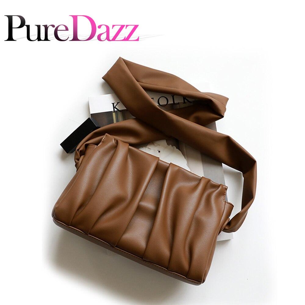 2021 حقيبة الكتف حزام التجاعيد الفاخرة مصمم المرأة حقيبة حقيبة كروس من الجلد الطبيعي عادية حقيبة كتف جلدية حقيقية